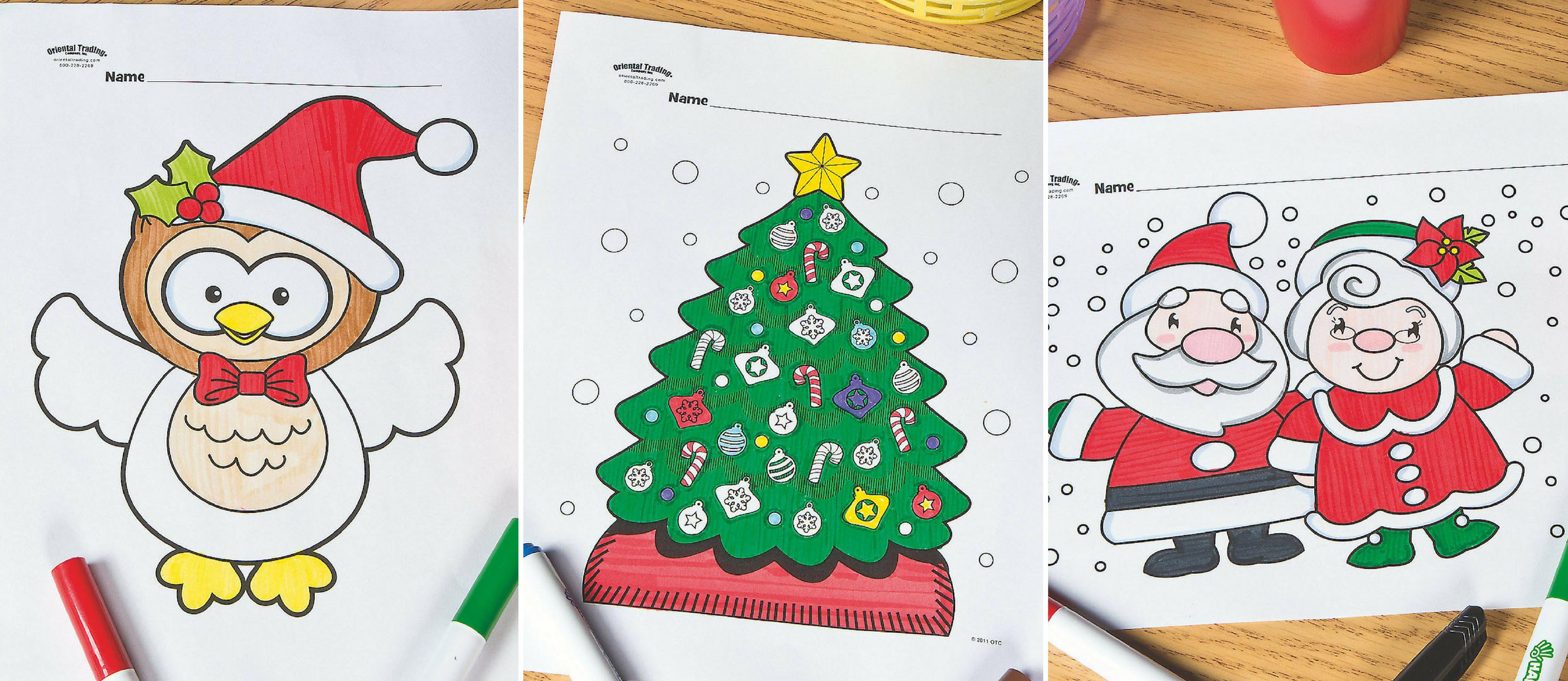 Oriental Trading Coloring Pages Free Christmas Coloring ...